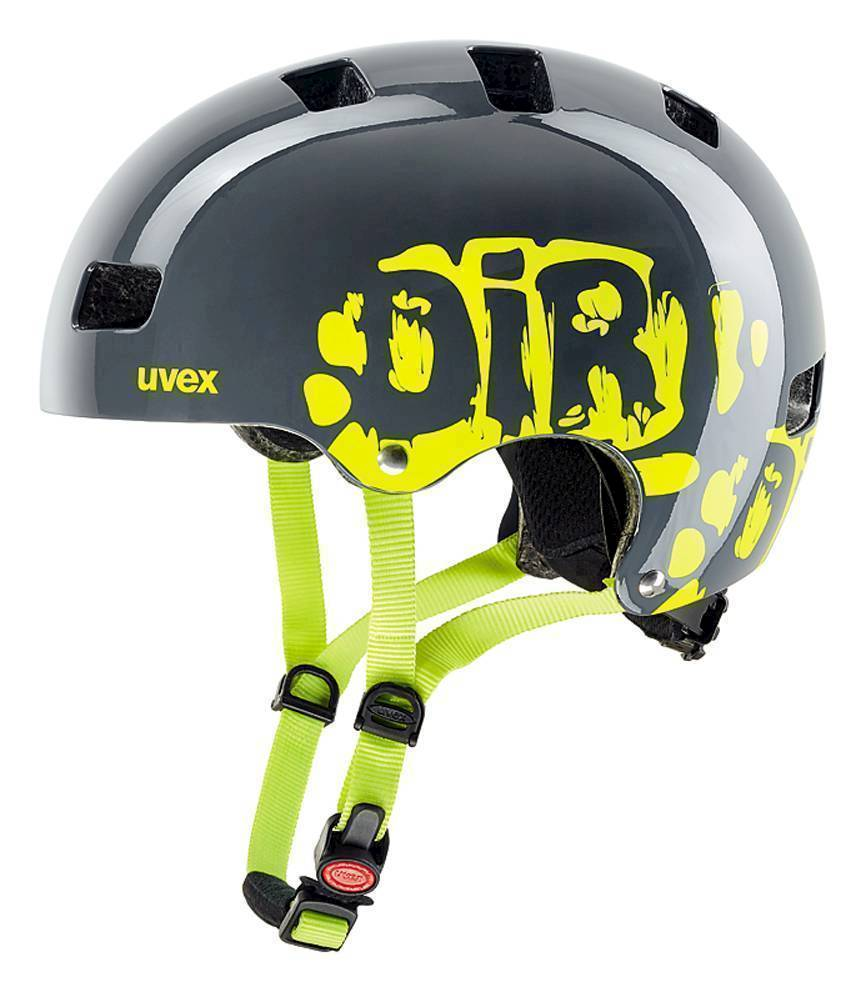 helma UVEX KID 3 DIRTBIKE GREY-LIME 2019 55-58cm