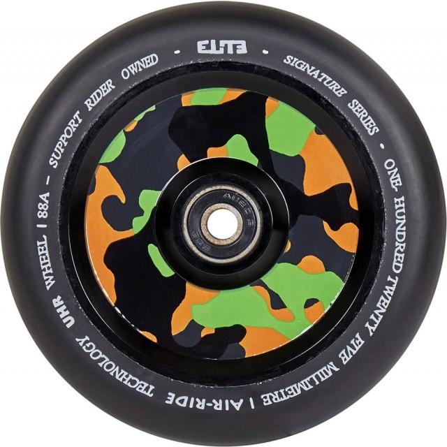 kolečko Elite Air Ride Camo Wheel 110 Black
