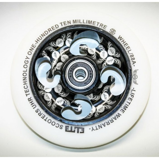 kolečko Elite Scooters UHR Sig 110 mm Wheel, Black Laser Etched White