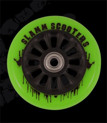 kolečko Slamm 100 mm Black/Green + ABEC 7