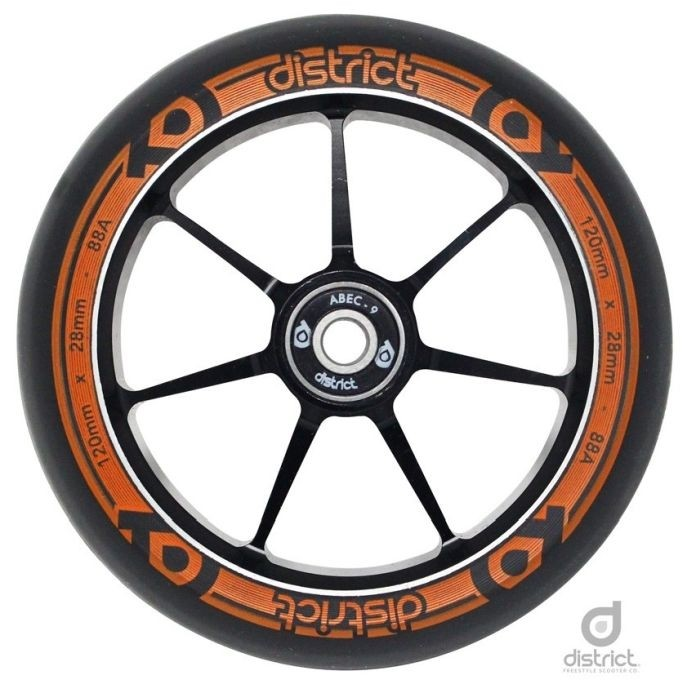 Kolečko District Dual Width Core 110 Black Orange