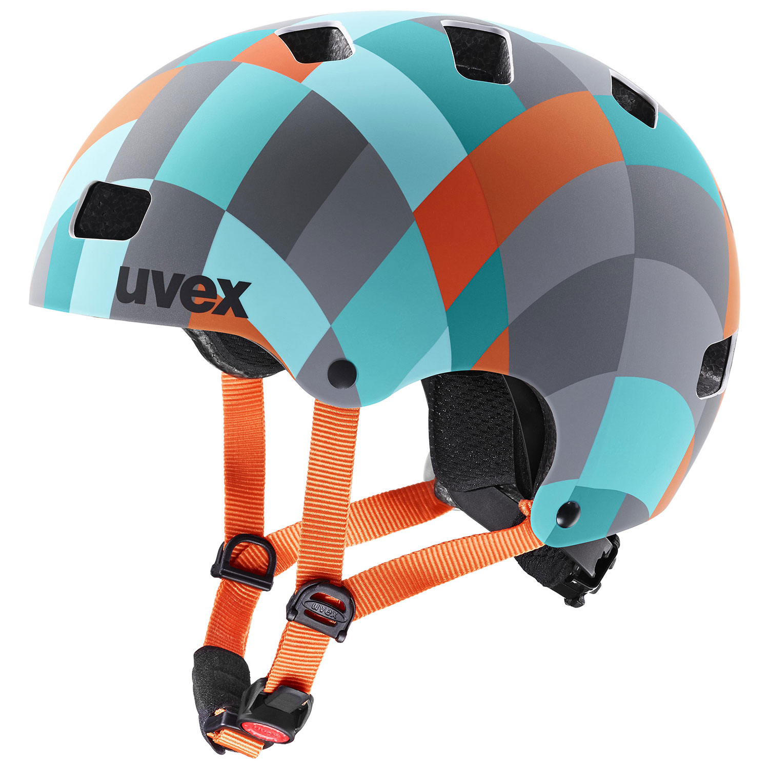 helma UVEX KID 3 CC GREEN CHECKERED 2021 51-55cm
