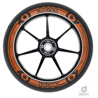 Kolečko District Dual Width Core 120 Black Orange